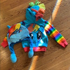 My little pony jacket and hat size 3T